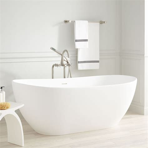 Freestanding Tub With by Winifred Resin Freestanding Tub Matte Finish Bathroom