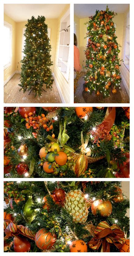 holiday decorations  fruit christmas tree ohcarlene