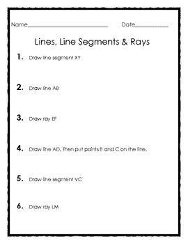 elementary geometry drawing lines  segments  rays