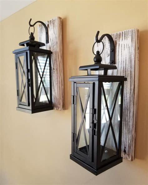 set   medium rustic wall mounted lantern sconces id
