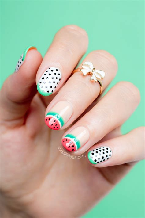 sophia webster watermelon nails nafw  day