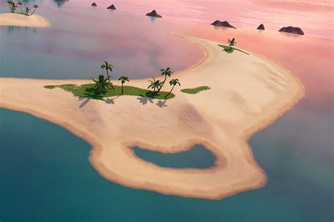 fortnite ile volcan  ile banc de sable nouvelles