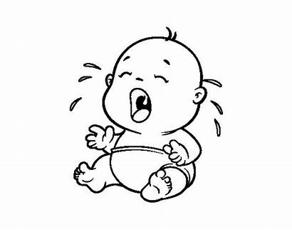 Crying Coloring Pages Cry Drawing Clipart Sheet