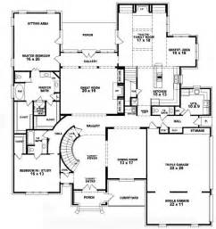 house plans 2 story 653756 two story 5 bedroom 4 5 bath style house plan house plans floor plans home