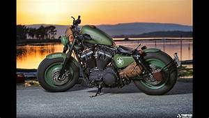 Harley Davidson Sportster Iron 883  Army Look Stage Ii