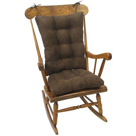 rocking chair cushion sets jumbo klear vu gripper twillo chocolate jumbo rocking chair