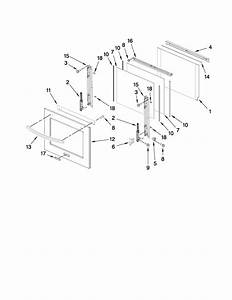 Oven Door Parts Diagram  U0026 Parts List For Model