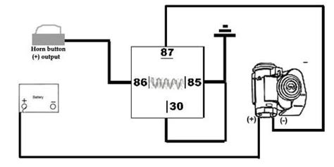 air horn relay wiring question mgb gt mg