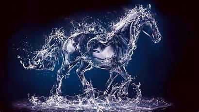 Animated Water Horse Liquid Desktop Wallpapers