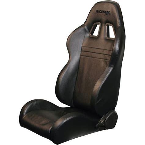siege baquet cuir siège baquet côté droit rabattable look cuir cesam sport
