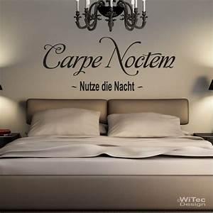 Wandtattoo Carpe Noctem : wandaufkleber carpe noctem wandtattoo nutze die nacht ~ Sanjose-hotels-ca.com Haus und Dekorationen