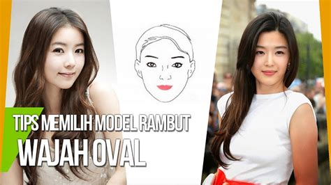 model rambut  wajah oval ala model
