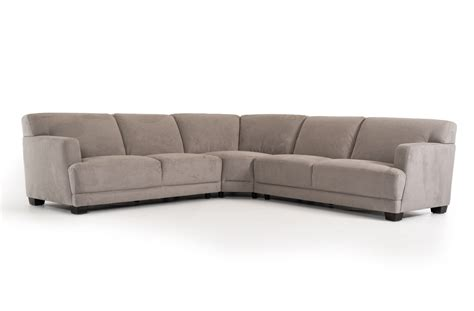 3 Piece Harlan Modern Grey Fabric Sectional