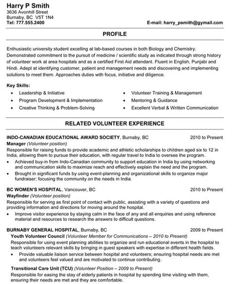 biology  chemistry student resume sample student
