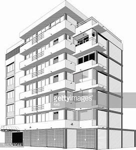 Black And White Apartment Building Clip Art | Home Design Plan