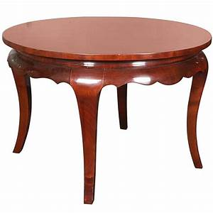 art deco mahogany round coffee table for sale at 1stdibs With mahogany coffee table for sale