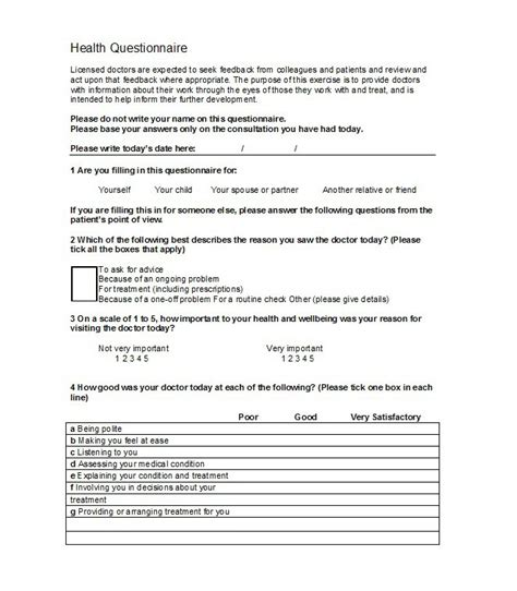 questionnaire template 30 questionnaire templates word template lab