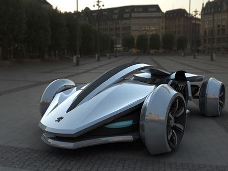 peugeot car one futuristic epine concept car was inspired by racing