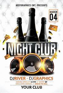 night club flyer template by hedygraphics graphicriver With nightclub flyers templates