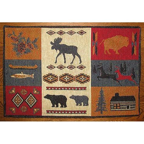 rustic lodge placemats cabin place