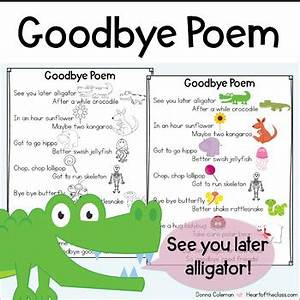 Attendance Sheet Online Goodbye Poem By Donna Coleman Teachers Pay Teachers
