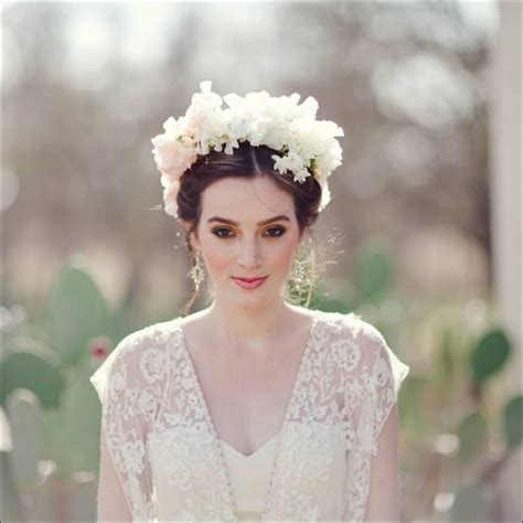Turn A Princess With A Flower Crown On Your Wedding Day