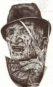 Freddy Krueger Portrait Tattoo Design