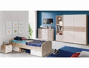 Jugendbett Weiß 90x200 : jugendbett wisal 46 sandeiche wei 90x200 cm mit nachttisch kinderbett wohnbereiche kinder ~ Orissabook.com Haus und Dekorationen