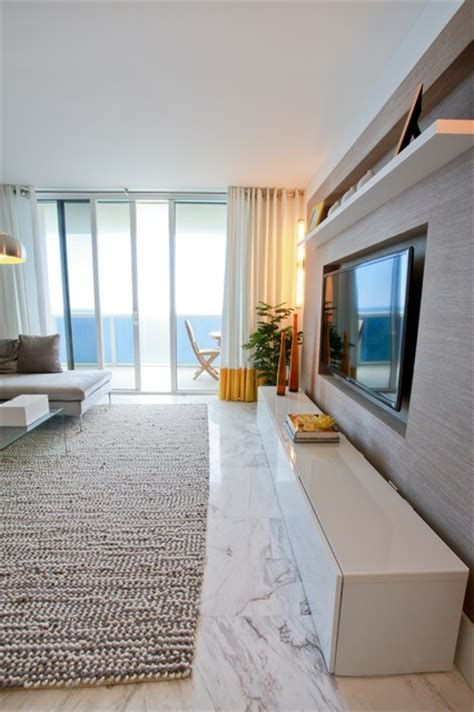 hallandale beach condo contemporary living room