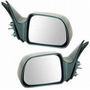 Manual Remote Side View Mirrors Pair Set New For 00