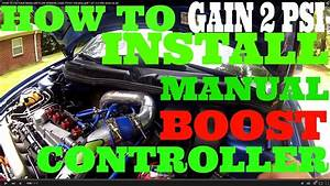 How To Install A Manual Boost Controller Jetta 1 8t Audi