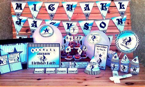 michael birthday decorations michael jackson printable supplies invitations