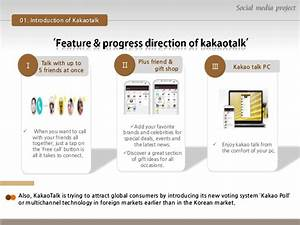 Social media project with Kakaotalk, Wechat, Snapchat