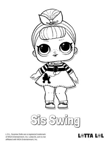Kleurplaat Lol by Sis Swing Lol Coloring Page Lotta Lol