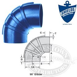 shields silicone  degree elbow wet exhaust couplers