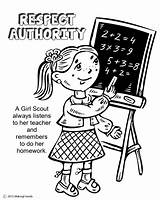 Respect Authority Coloring Scout Daisy Pages Petal Scouts Law Printable Activities Petals Worksheets Makingfriends Sheets Daisies Sheet Colouring Learn Printables sketch template