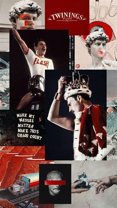 Aesthetic Queen Band Mercury Freddie Fondos Pantalla