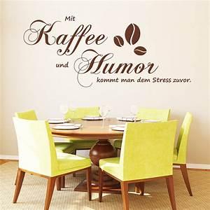 Sprüche Für Die Küche : wandtattoo schriftzug kaffee humor stress wandaufkleber ~ Watch28wear.com Haus und Dekorationen