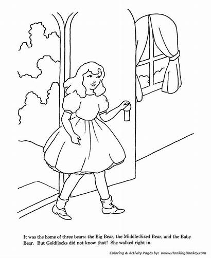 Goldilocks Bears Three Coloring Pages Goldielocks Drawing