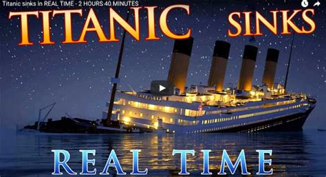 titanic sinking animation real time chilling length detailed animation of rms