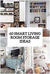 60 simple but smart living room storage ideas digsdigs for Organizing living room family picture ideas