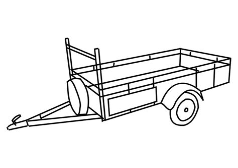 coloring page trailer  printable coloring pages