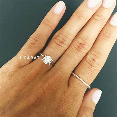 Ring Engagement Carat Sizes Rings Different Hand