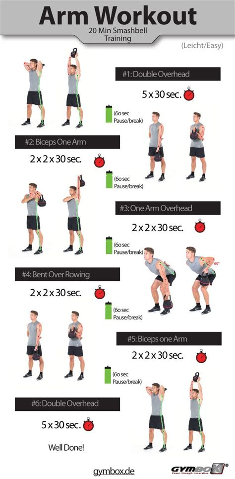 kettlebell workout workouts printable arm bicep sample biceps exercises arms circuit visit form