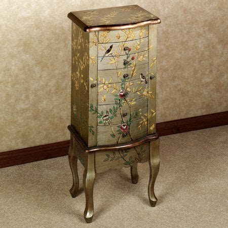 Painted Jewelry Armoire Antique Jewlery Armoire Powell Company Antique Parchment