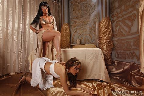 arousing babe leyla black and kathia nobili recreate lesbian scenes in ancient egypt