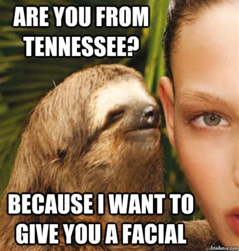 Rape Sloth Meme - you don t wanna know rape sloth know your meme