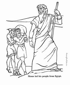 Moses Printable Coloring Pages
