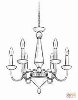 Chandelier Drawing Draw Coloring Pages Candelabra Drawings Sketch Step Template Supercoloring Easy Tutorials Body Dessin Simple Cartoon Shape Light Anime sketch template