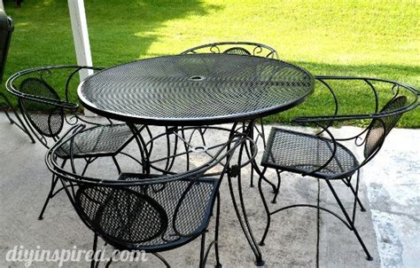 Metal Patio Table And Chairs by Patio Table And Chair Update House Ideas Painting